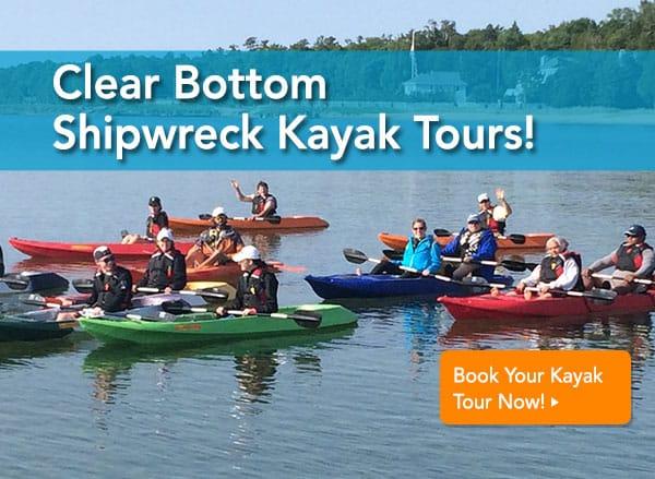 clear bottom shipwreck kayak tours