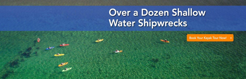 door county shipwreck tour on kayaks