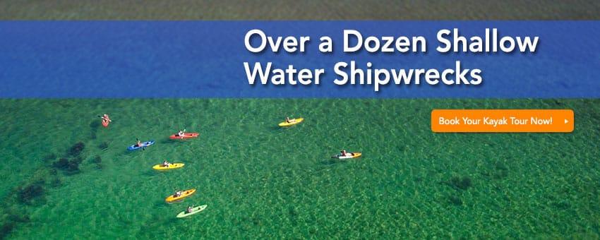 door county shipwreck kayak tours