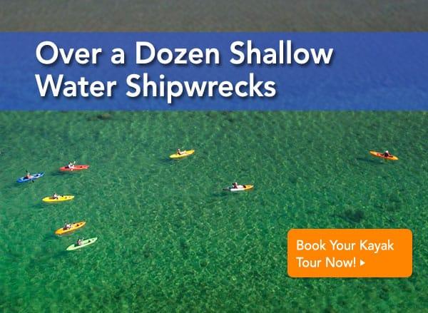 kayak shipwreck tours door county